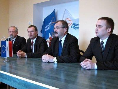 Od lewej: Karol Stasik, Piotr Borys, Cezary Przybylski i Wojciech Kasprzyk