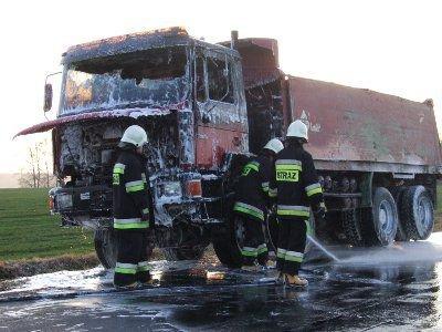 Spłonęła część kabiny i silnika