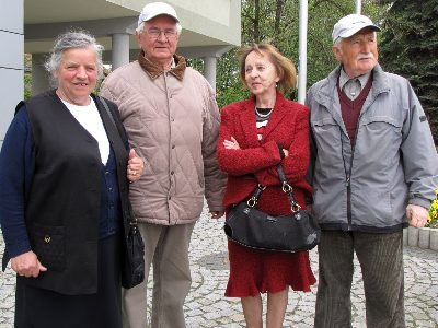 Od lewej: Stefania Sadlak, Edward Burniak, Antonina Zenona Dutkowska i Antoni Dziechciarz