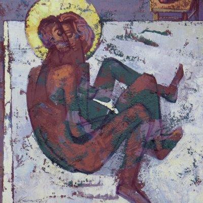 Ikona małżeńska, olej na płycie, 1999 (autor: Ventzislav Piriankov)