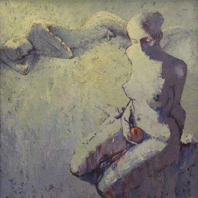 Poranek księżyca, olej na płycie, 1999 (autor: Ventzislav Piriankov)