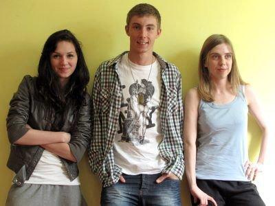 Od lewej: Agnieszka Nowak, Jordan Czopko i Marta Hichel