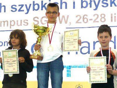 Kacper Grela - Mistrz Polski Juniorów w szachach szybkich