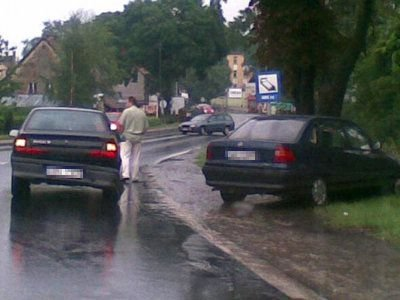 Kolizja w Kruszynie