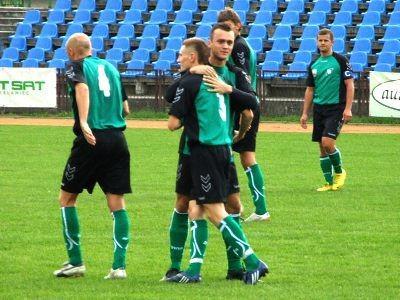 Radość piłkarzy BKS po zdobyciu gola