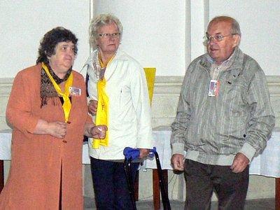 Pierwsza z lewej: Jadwiga Bobek