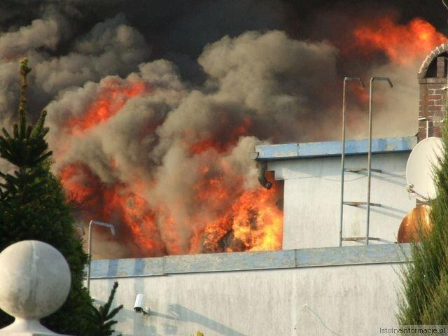 Pożar zakładu Rade w Szczytnicy z-index: 0