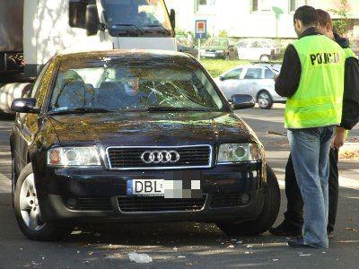 Samochód potrącił pieszego na ulicy Zygmunta Augusta