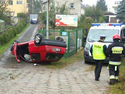 Kierowca Volkswagena został przewieziony do szpitala