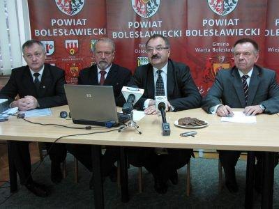 Od lewej: Dariusz Kwaśniewski, Karol Stasik, Cezary Przybylski i Stanisław Chwojnicki