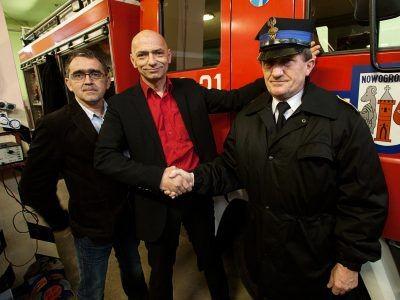 Od lewej: Mariusz Lickiewicz, Bogusław Nowak i Ryszard Kalus