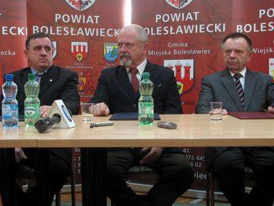 Od lewej: Marian Haniszewski, Karol Stasik i Stanisław Chwojnicki