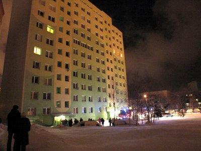 Pożar wybuchł w piwnicy bloku przy ul. Jana Pawła II 38 a