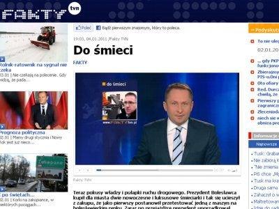 W głównym wydaniu Faktów telewizja TVN powiedziała o prezydenckiej przejażdżce