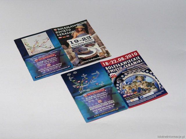 Ulotki reklamujące Święto Ceramiki co roku wyglądają podobnie. Miasto płaci jednak jak za zupełnie nowe projekty.