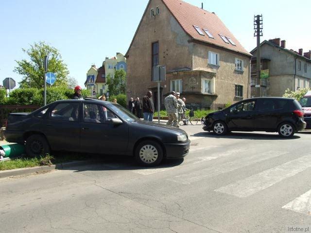 Do zderzenia doszło na skrzyżowaniu ulic Spokojna i Piastów