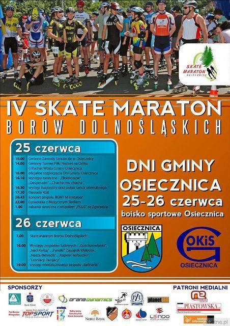 Plakat IV Skate-Maratonu Borów Dolnośląskich