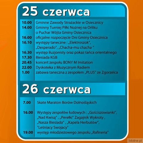 Program Dni Gminy Osiecznica