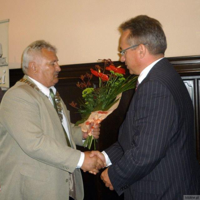 Szef Rady Miasta Józef Pokładek i Piotr Roman