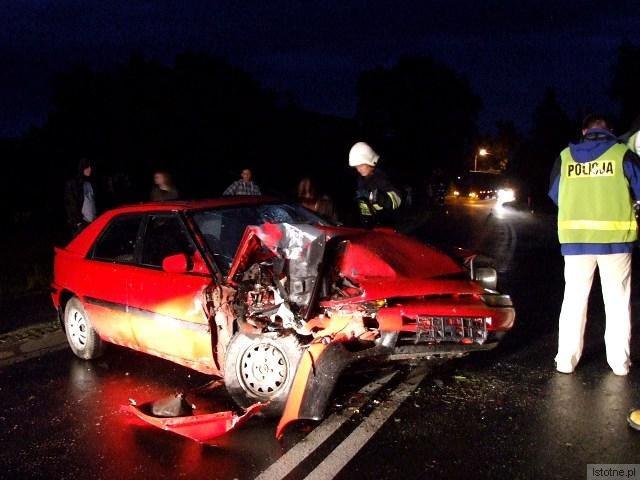 Kierowca Mazdy trafił do szpitala