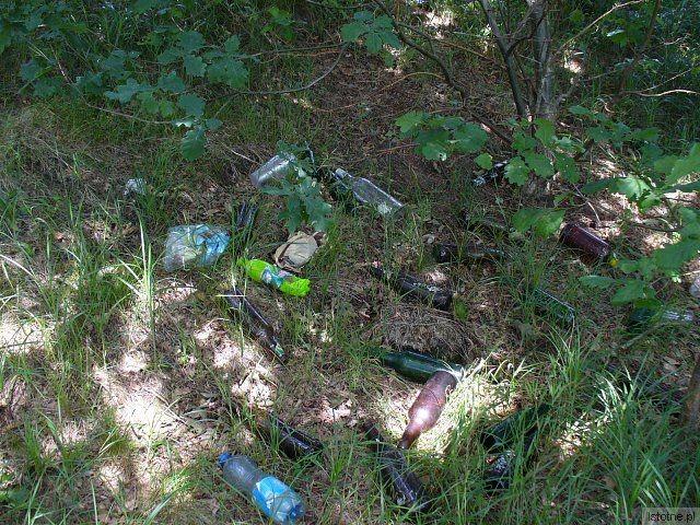 W dzikich piwiarniach nikt nie sprząta po klientach, najczęściej walają się tam puste butelki po alkoholu