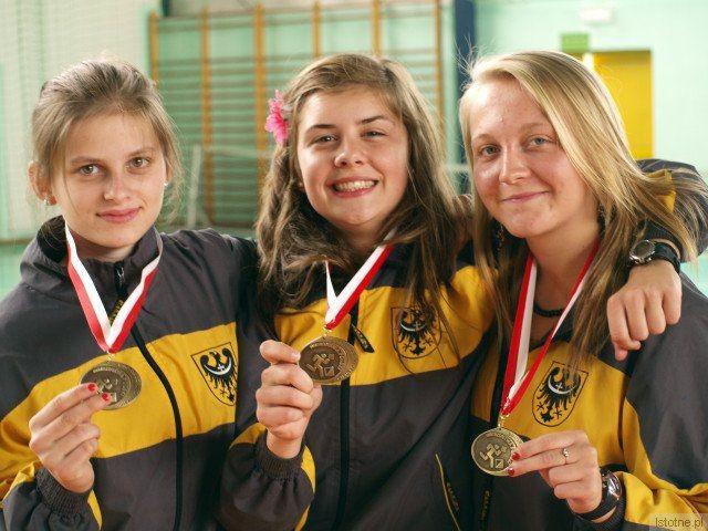 Brązowe medalistki Ogólnopolskiej Olimpiady Młodzieży