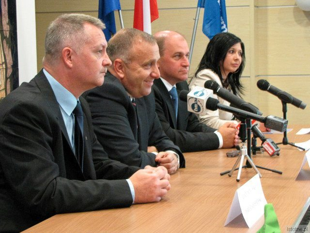 Dariusz Kwaśniewski, Grzegorz Schetyna, Jan Michalski i Beata Solpa-Tertel