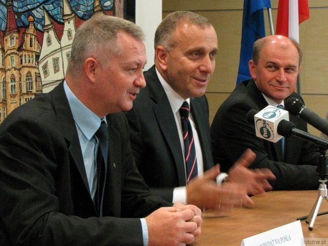 Dariusz Kwaśniewski, Grzegorz Schetyna i Jan Michalski
