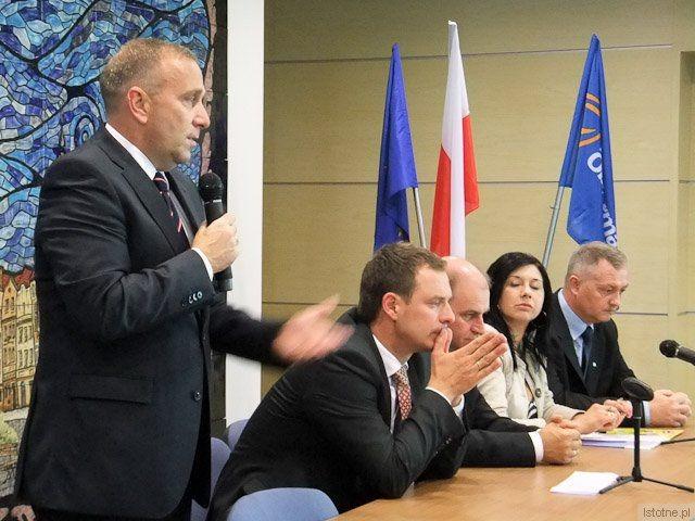 Grzegorz Schetyna, Piotr Borys, Jan Michalski, Beata Solpa-Tertel i Dariusz Kwaśniewski