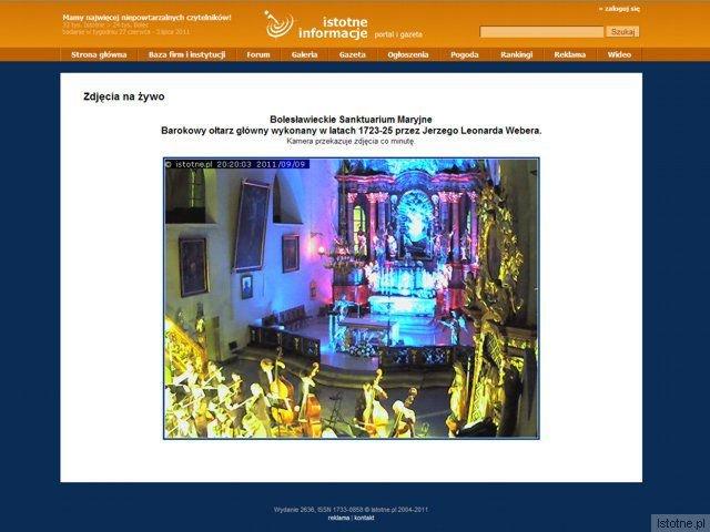 Na naszym portalu można na bieżąco oglądać zdjęcia z Bolesławieckiego Sanktuarium Maryjnego