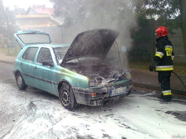 Spaleniu uległa komora silnika