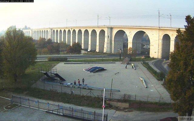 Obraz z kamery zamontowanej na budynku PWiK