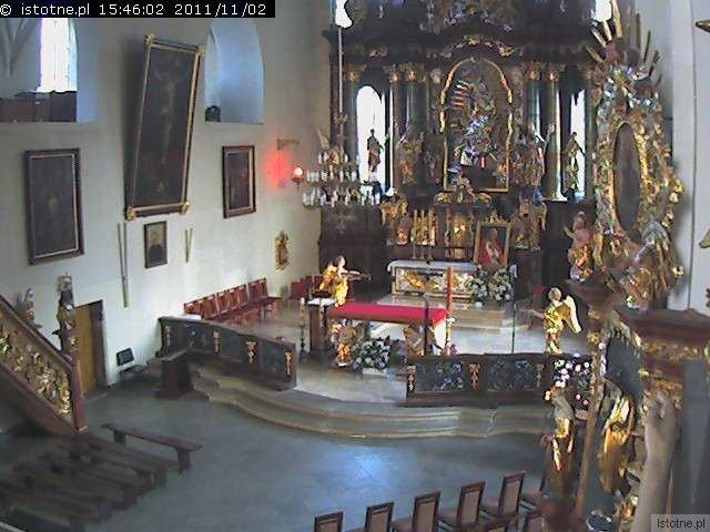Obraz z kamery zamontowanej we wnętrzu Sanktuarium