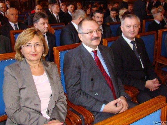 Alicja Krzyszczak, Cezary Przybylski i Dariusz Kwaśniewski