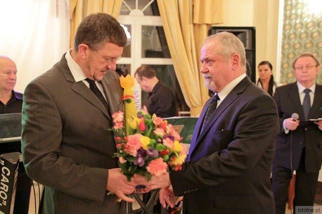Zbigniew Wolański i prezes BTG Karol Stasik