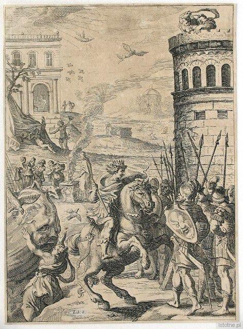F. Cleyn, S. Savery, Ilustracja do VIII księgi Metamorfoz Owidiusza