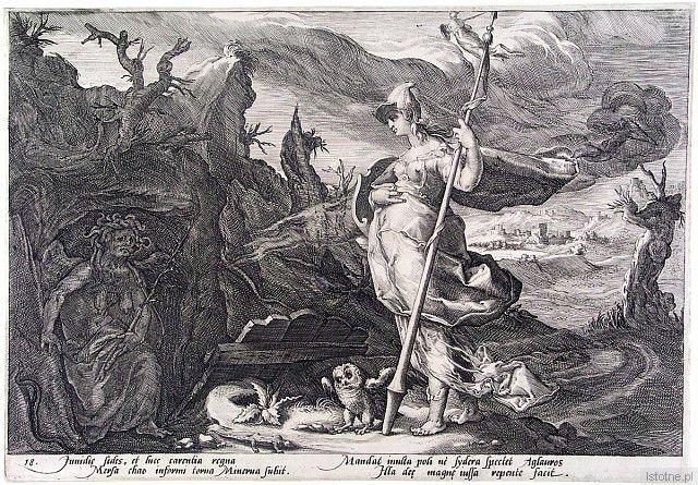 H. Goltzius, Atena Pallas
