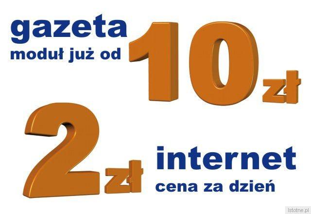 Ceny od 10 zł netto za moduł w gazecie, od 2 zł netto za dzień emisji na portalu