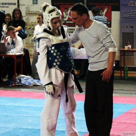 Paulina z trenerem Mariuszem Sulmą