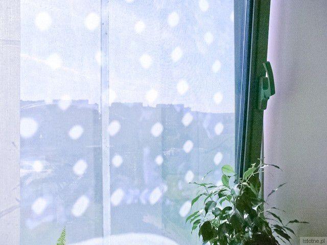 Okno zasłonięte przez baner (7 piętro, Wydział Promocji Starostwa)