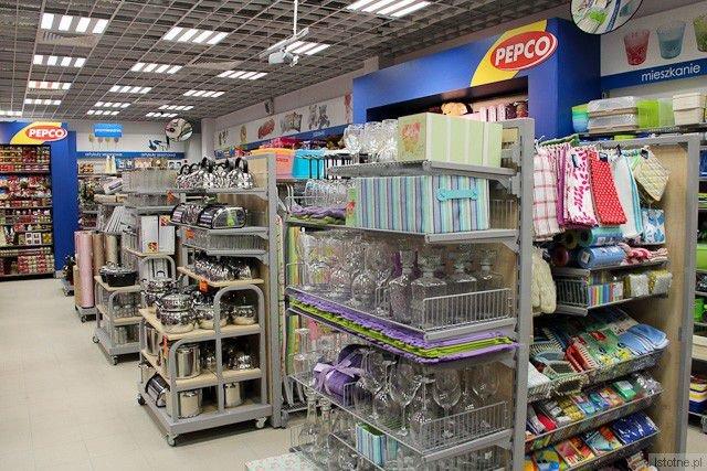Wnętrze sklepu Pepco