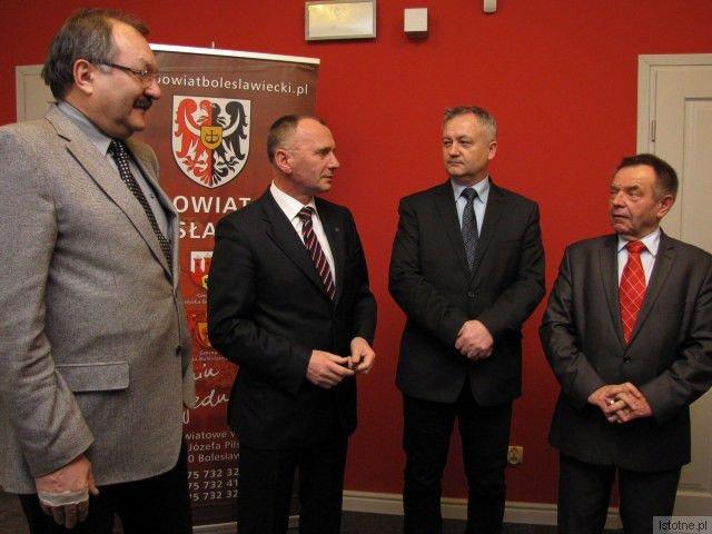 Cezary Przybylski, Jerzy Łużniak, Dariusz Kwaśniewski i Stanisław Chwojnicki