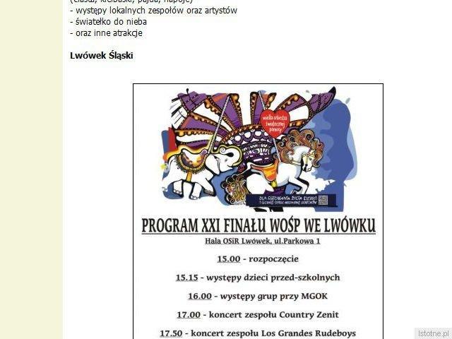 Zrzut fragmentu strony Bolec.Info z dnia 2013-01-14