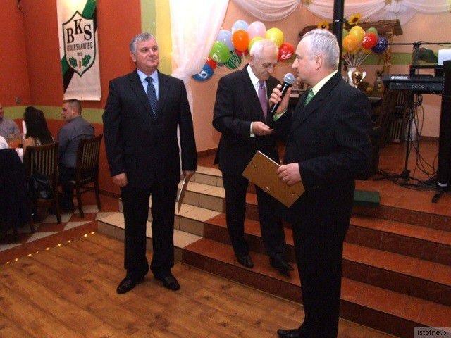 Najwięcej podziękowań od klubu otrzymał Prezes STW Ryszard Mach