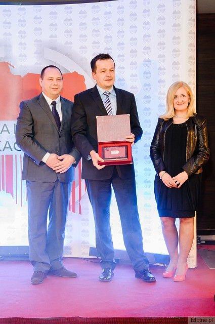 Certyfikat Firma Roku 2012 dla PWiK w Bolesławcu odebrał dyrektor ds. technicznych Grzegorz Kozłowski (w środku)