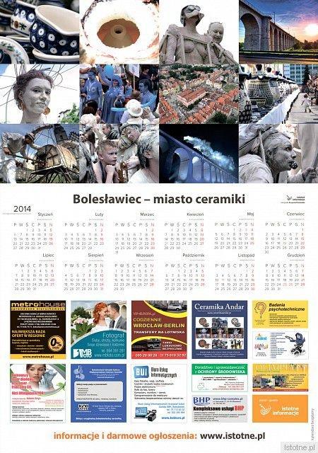 Kalendarz z okazji Święta Ceramiki na rok 2014