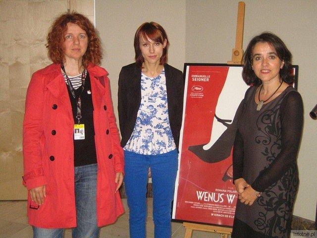 Iwona Bojko (BOK-MCC) jako jurorka 38. Film Festiwal w Gdyni po prawej oraz od lewej: Silvia Dubecká (Słowacja, szefowa tamtejszej federacji dyskusyjnych klubów filmowych) i Marta Maciejewska (DKF Miłość Blondynki z Gdańska)