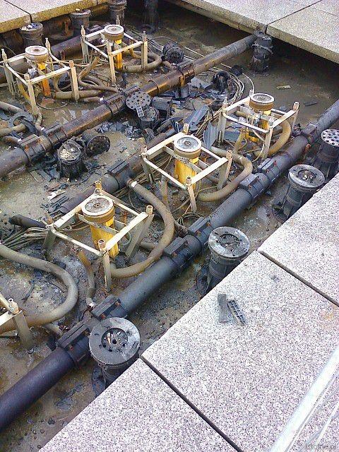 Uszkodzone elementy fontanny