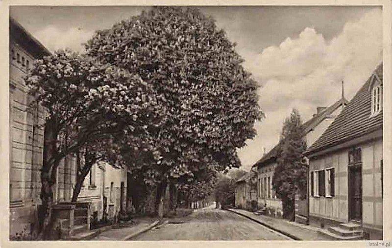 Zdjęcie prezentuje ostatni fragment dzisiejszej ulicy Lipowej. W przedwojennym Godnowie była to najbardziej reprezentacyjna ulica.