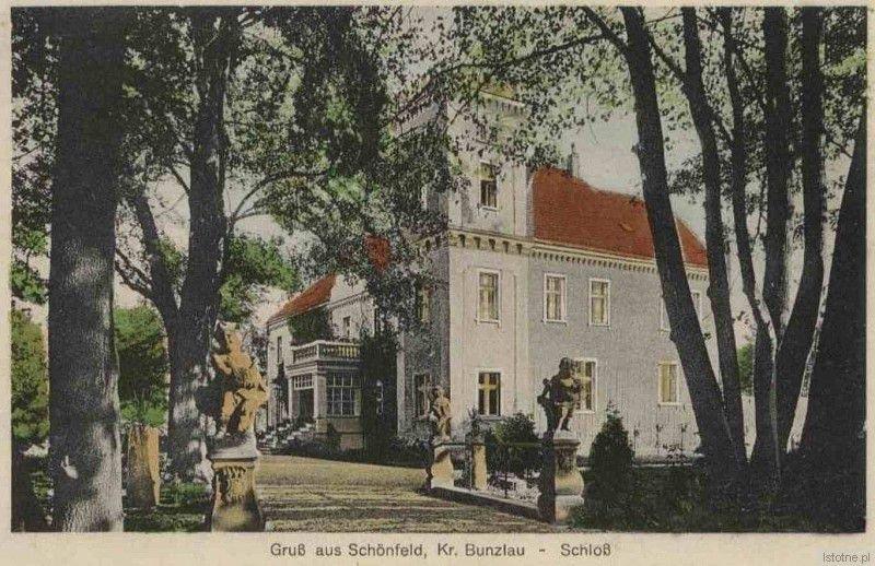 Na karcie widzimy pałac rodziny Wendland z roku około 1935 r.